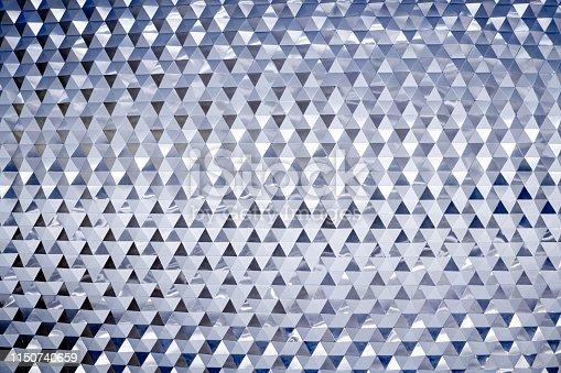 1161683825 istock photo Abstract modern metallic triangular wall pattern 1150740659