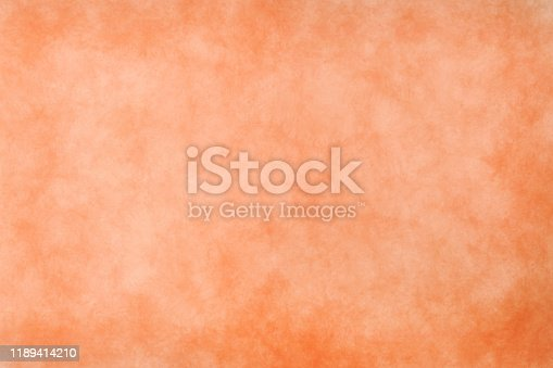 939873258 istock photo Abstract modern painting . Dry brush painted paper , canvas , wall . Textured background in coral tones. 1189414210