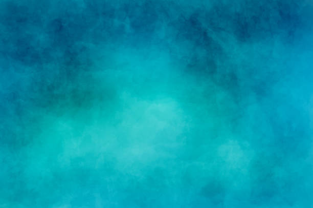 abstract modern painting . dry brush painted paper , canvas , wall . textured background in blue and cyan tones. - бирюзовый стоковые фото и изображения