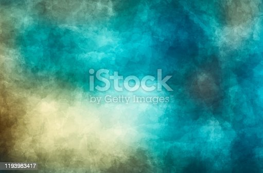 471762893 istock photo Abstract modern painting . Dry brush painted paper , canvas , wall . Textured background in blue and gray tones. 1193983417