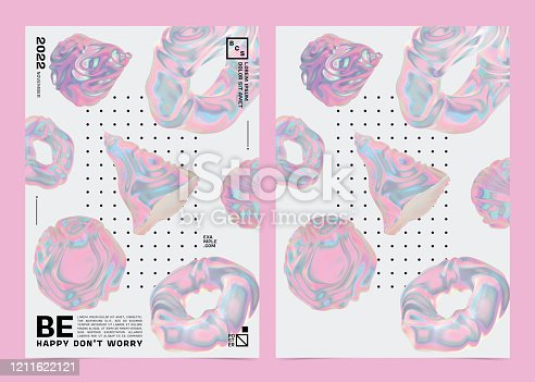 1197513976istockphoto Abstract Modern Poster Template With Swirling Geometric Shapes Composition Background. 1211622121