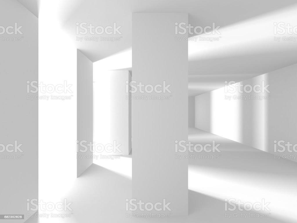 Abstract Modern White Architecture Background royaltyfri bildbanksbilder