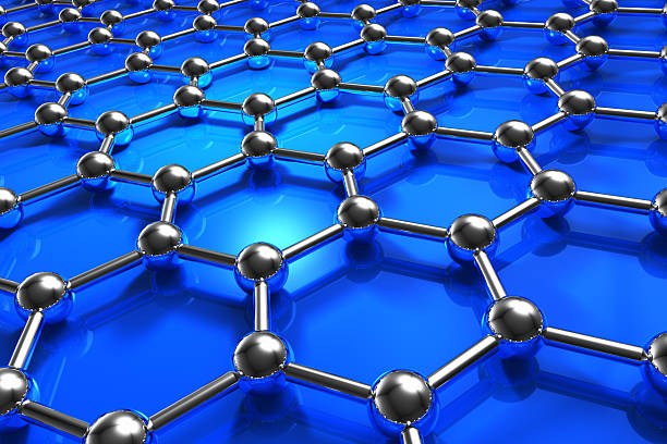 abstract molecular nanostructure model - graphene stock photos and pictures