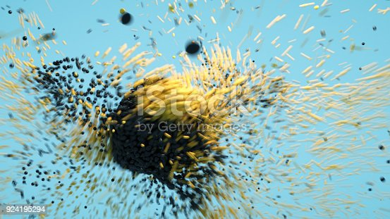 681362448 istock photo Abstract Molecular structure 924195294