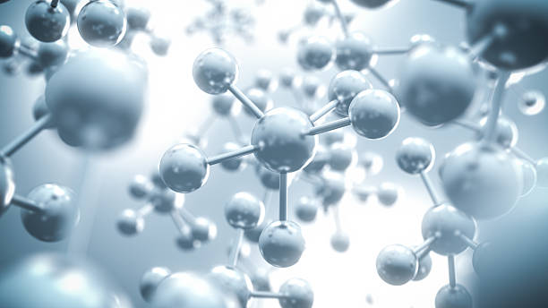 abstract molecule background - 3d illustration - molecule stock photos and pictures