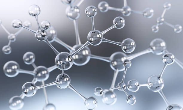 Abstract molecule or atom background stock photo
