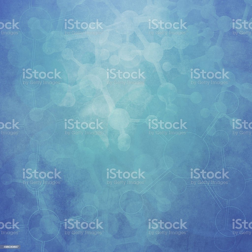 Abstract molecules medical background stock photo
