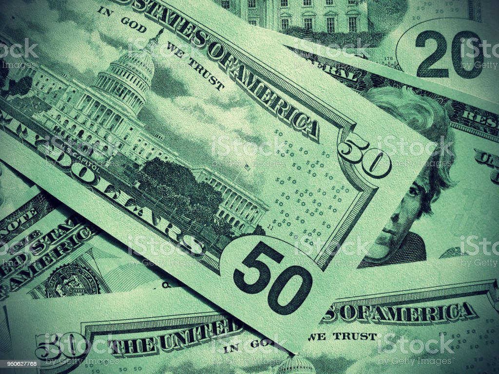 Abstract money background from dollars usa stock photo