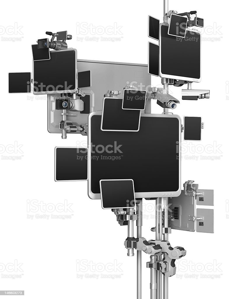 Abstract monitoring tree royalty-free stock photo