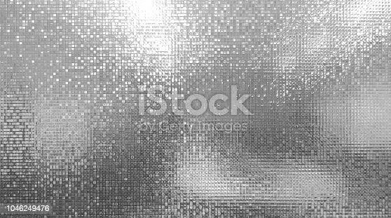 abstract mono light of mosaic wall and bokeh on glass door or window at blur on secrets meeting room for art wallpaper and texture or background