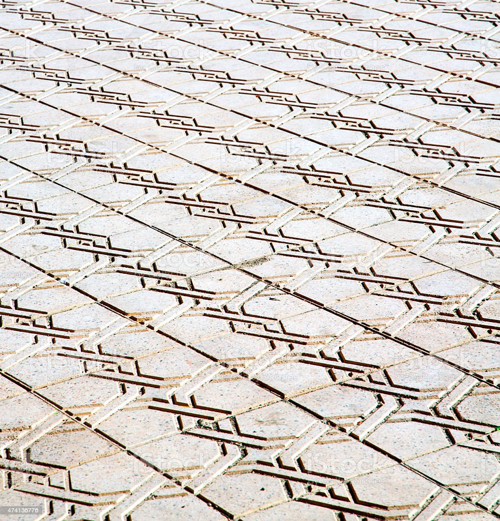 abstract morocco in africa  tile the colorated pavement   backgr stock photo