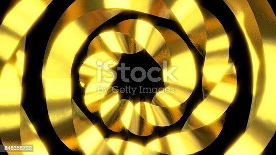 istock Abstract motion background. Gold elements. Swirl, rotating object 848358722