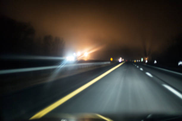 Abstract Motion Blur Night Expressway – Foto