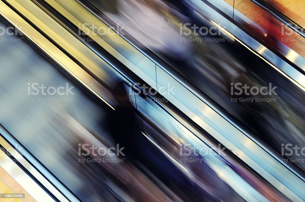 Abstract Motion Blur of Escalator royalty-free stock photo
