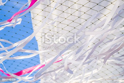 876037346istockphoto Abstract motion blur ribbon, net and curtain background. 831716458