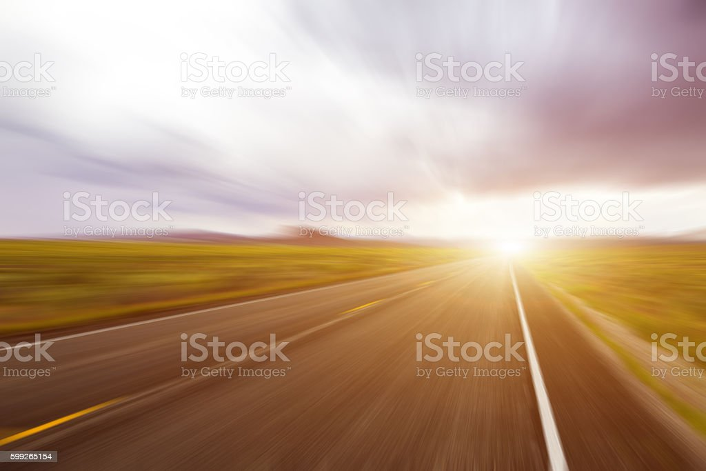Abstract Motion blurred asphalt road – Foto