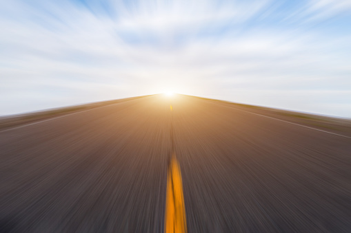 824108398 istock photo Abstract Motion blurred road 538150500