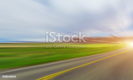 istock Abstract Motion blurred road 538346044