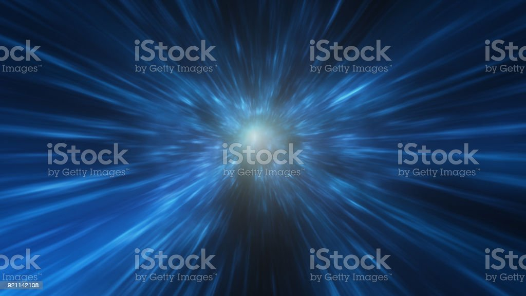 Abstract motion blurred tunnel stock photo