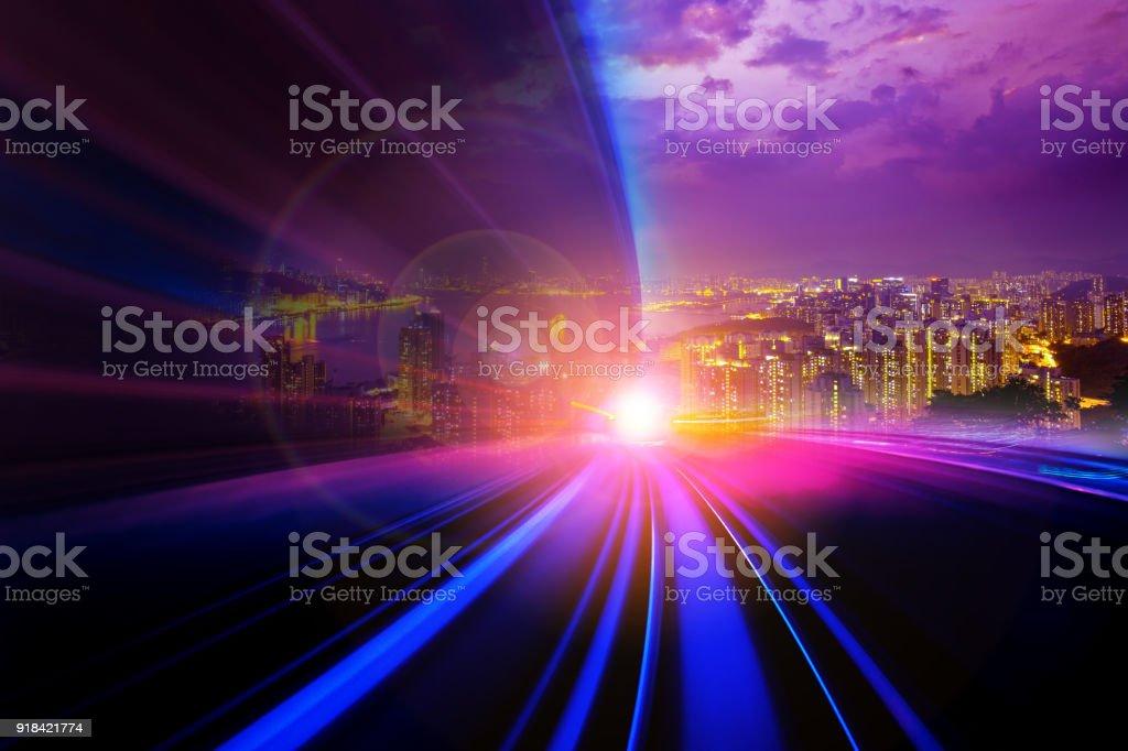 Abstrakte Bewegung Geschwindigkeit Stadt Hintergrund – Foto
