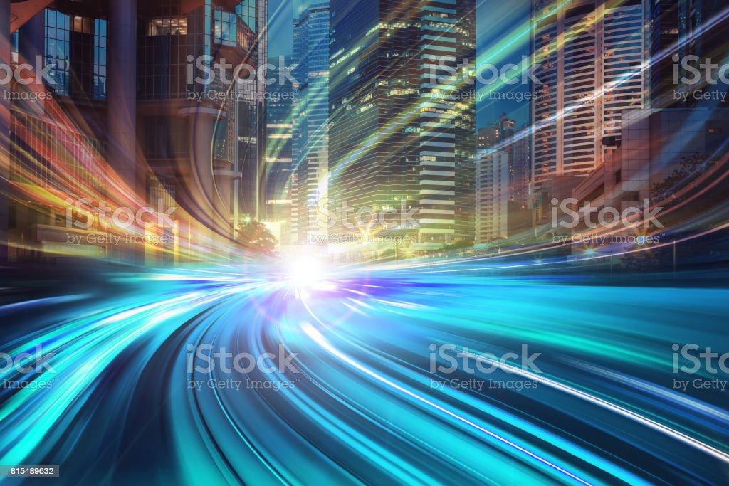 Geschwindigkeit der neuen Stadt in der Stadt