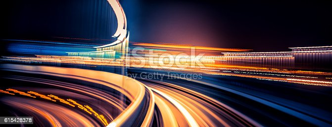 istock abstract motion-blurred view from a moving train 615428378