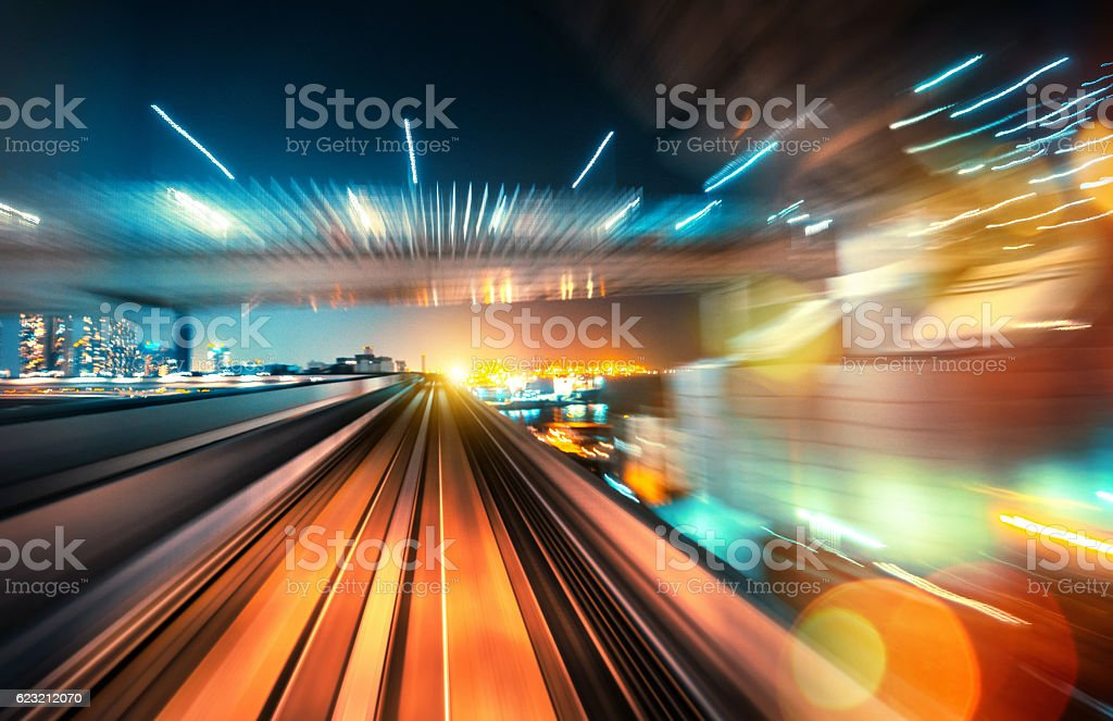 abstrakt motion-Verschwommene Ansicht von einem fahrenden Zug – Foto