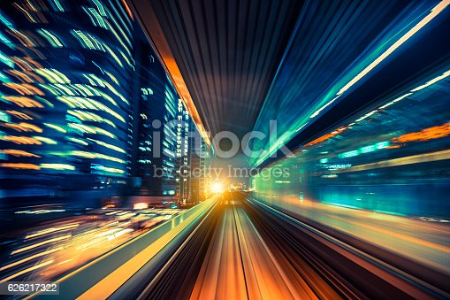 istock abstract motion-blurred view from a moving train 626217322