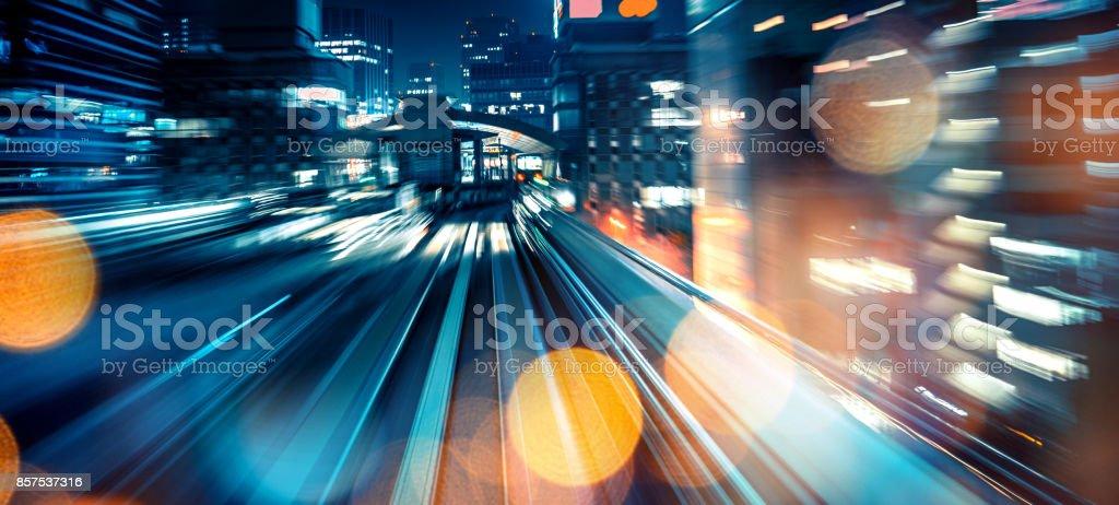 Abstrakte Bewegung verschwommen Blick aus einem fahrenden Zug – Foto