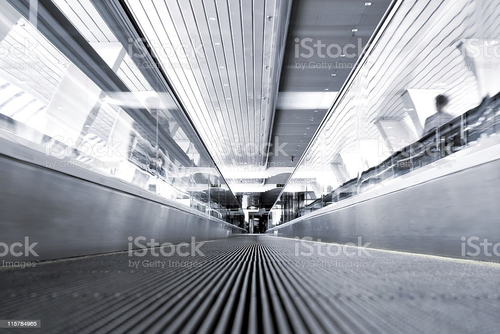 Abstract move escalator royalty-free stock photo