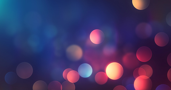 Abstract Multi Colored Bokeh Background - Lights At Night - Autumn, Fall, Winter, Christmas