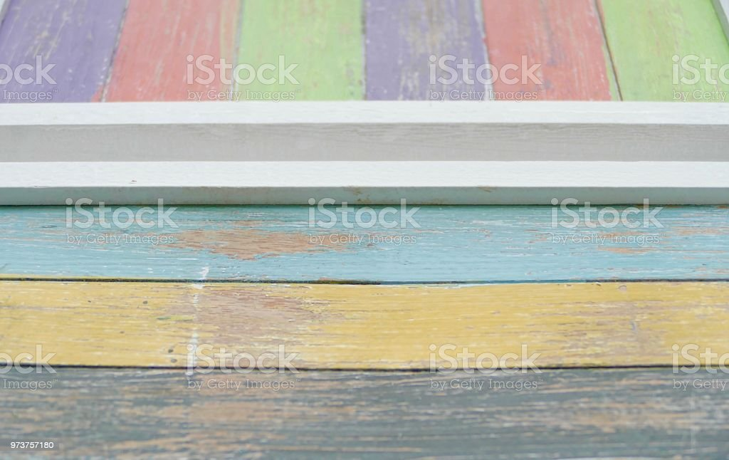Abstract multi colored wooden background