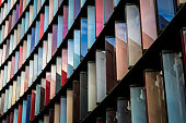 Abstract Multi Coloured Modern Architecture in the City of London