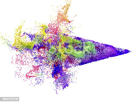 899255516 istock photo Abstract multi coloured particle background 899255536