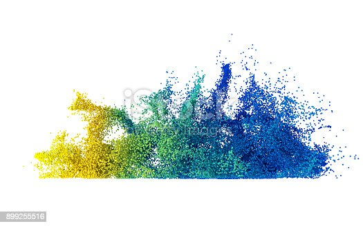 istock Abstract multi coloured particle explosion 899255516