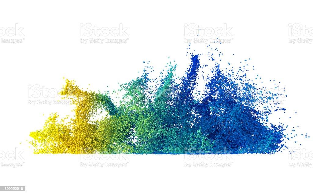 Explosão de partículas coloridas multi abstrata - foto de acervo