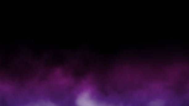 Abstract multicolor fog and smoke on black color background. stock photo