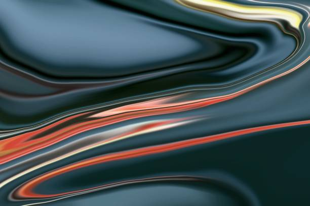 abstract multicolor liquid background - mercury metal stock photos and pictures