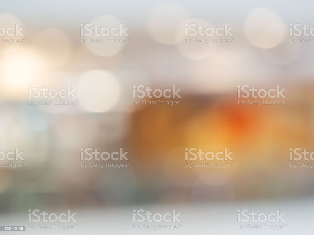 Abstract multicolored bokeh and blurry background stock photo