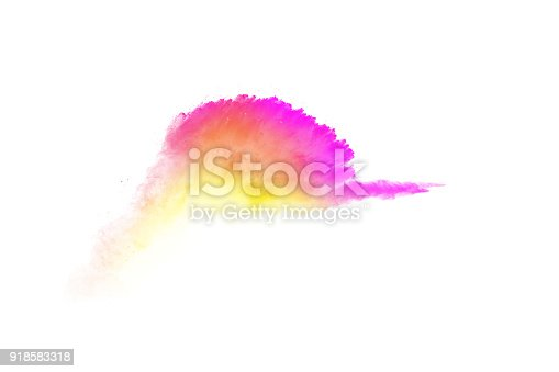 905594434istockphoto abstract multicolored dust splatter on white background.Freeze motion of color powder explosion on white background. 918583318