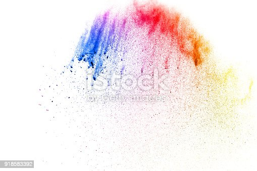 905594434istockphoto abstract multicolored dust splatter on white background.Freeze motion of color powder explosion on white background. 918583392