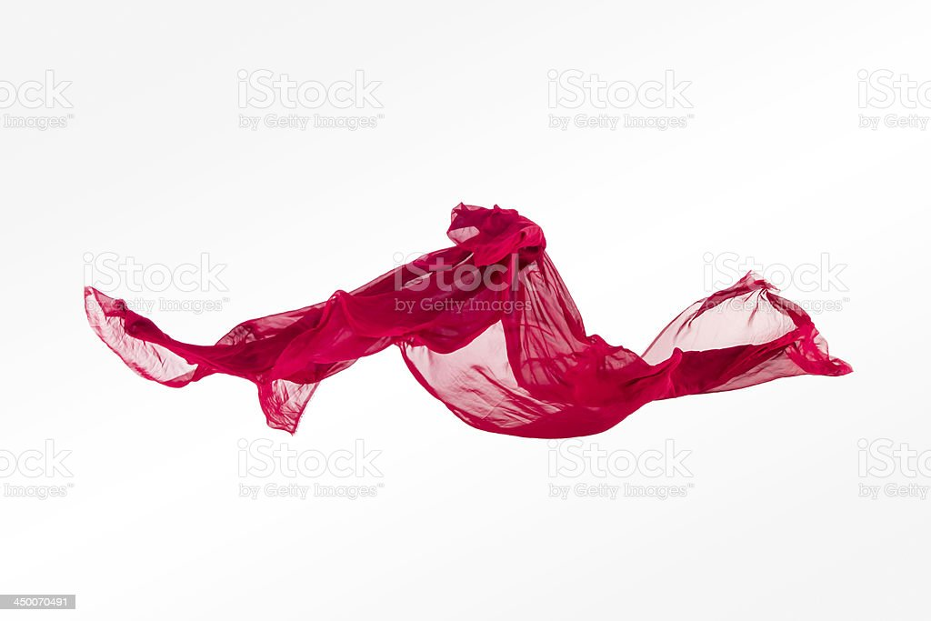 abstract multicolored fabric in motion royalty-free stock photo