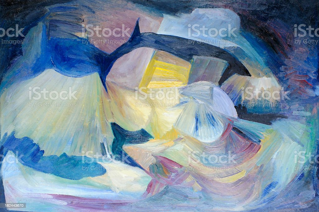 Abstract Multicolored Oil Painting Texture Background Pattern royalty-free stock photo