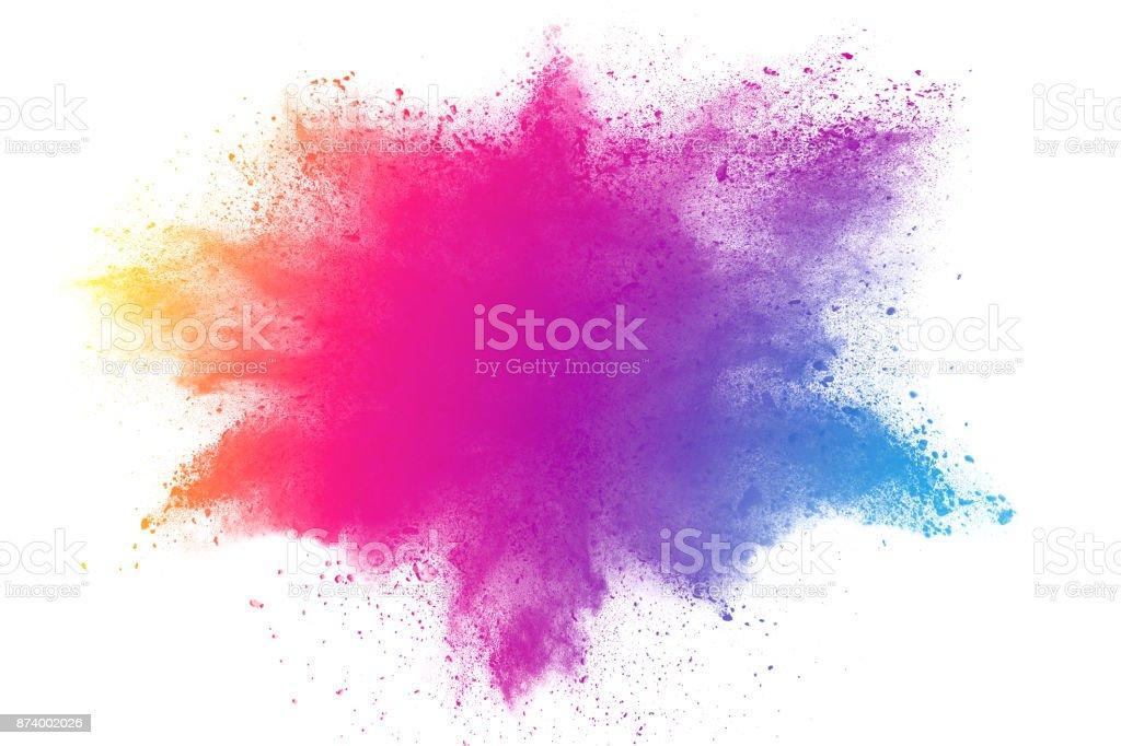 abstrait poudre multicolore éclaboussé - Photo de Abstrait libre de droits