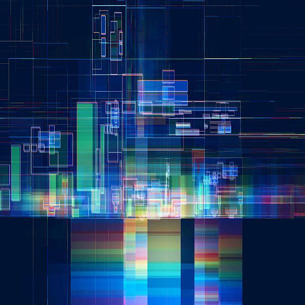 abstract multicolored tech colorful background - torre struttura edile foto e immagini stock