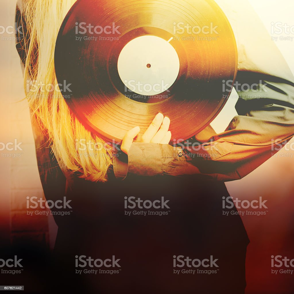 Abstract music background stock photo