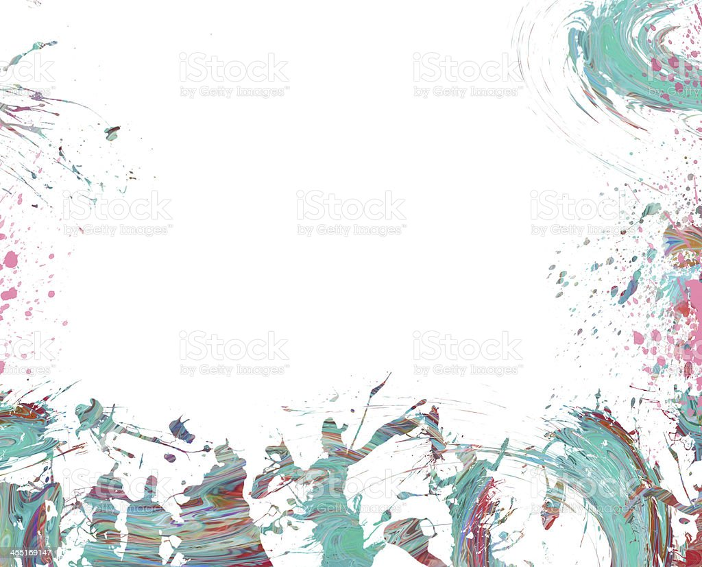 Abstract music Design background. Psychedelic Trance Dance. stock photo