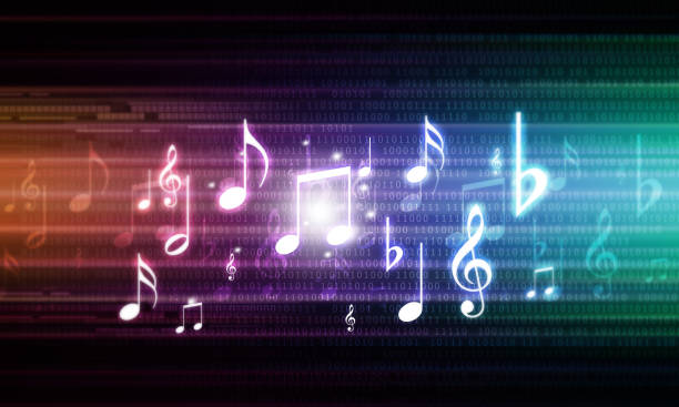 abstract musical background - music foto e immagini stock