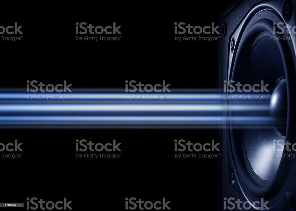 Abstract Musical Speaker stock photo