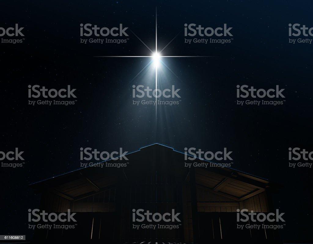Abstract Nativity Scene stock photo